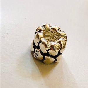 Bracelet Charm .925 Silver Cluster of Hearts